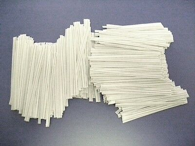"""4,000 Plastic Twist Ties White 4""""  Inches - General Use"""