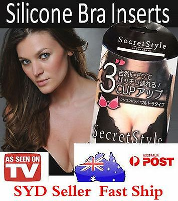 1x Silicone Breast Enhancer Bra Insert Pads Breast Enhancers 3 secret Styles