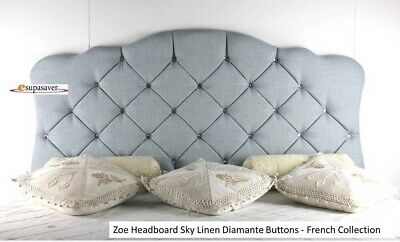 Zoe Headboard Linen All Sizes & Colours Esupasaver Huge Sale - French Collection