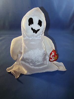 TY BEANIE BABIES ~ SHEETS THE GHOST 10-31-99 w/tags NMT ~ Scary Cool!