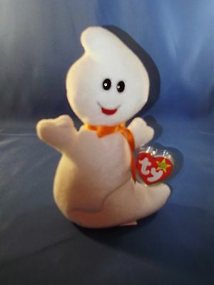 TY BEANIE BABIES ~ SPOOKY THE GHOST STYLE 4090 10-31-95 w/tags NMT ~ Booo-tiful!