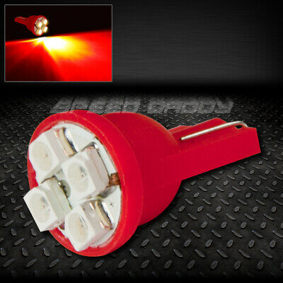 4Smd 4 3528 Smd Led T10 W5W 194 168 Red Auto Interior Dome Wedge 12V Light Bulb