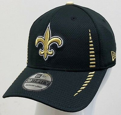 a1421a9b7 NEW ORLEANS SAINTS New Era NFL On Field 39Thirty Stretch Fit Cap Hat ...