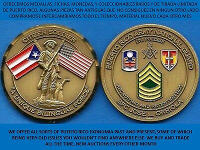 GUARDIA NACIONAL Puerto Rico ARMY National Guard MASON or KNIGHTS TEMPLAR Coin ?