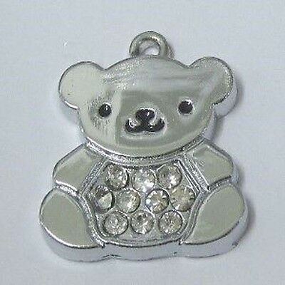 5 pieces 17x20mm Silver plated Bear alloy charm Pendant - A0332
