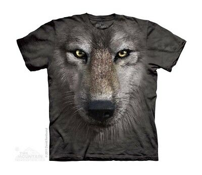 New WOLF FACE Youth T Shirt