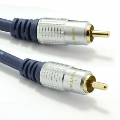 2m Pure HQ OFC Shielded Subwoofer Cable Gold