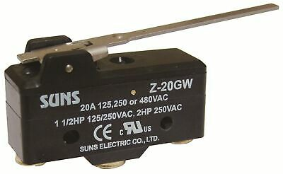 SUNS Z-20GW Extended Lever 20A Micro Switch