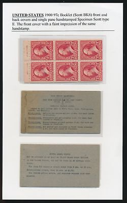 "#279BeSE F-VF NH PANE ""SPECIMEN"" WITH FRONT & BACK COVERS WL3855A GPC17C"