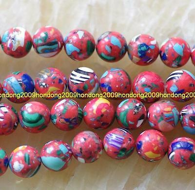 10mm Red Turquoise Round Gems loose Beads 15''