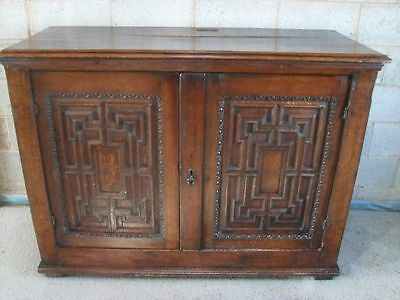 Large Georgian geometric panelled Oak 2 door side cabinet/cupboard • £795.00