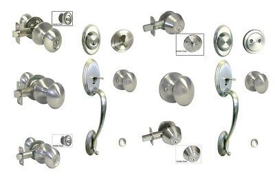 Satin Nickel door knob oval egg  entrance privacy passage dummy single deadbolt