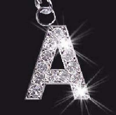 Crystal Mobile Phone Letter Charm LETTERS  A - Z INITIALS