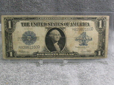 1923 $1 SILVER CERTIFICATE NOTE--DECENT NOTE-FREE SHIP