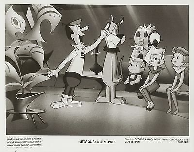 JETSONS: THE MOVIE ~ PRESS PHOTOGRAPH 1990 ~ MINT Condition MEET GEORGE JETSON!