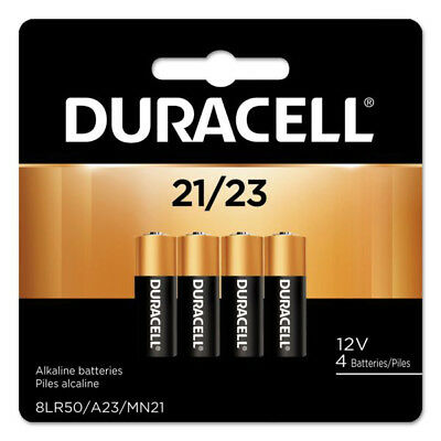 4 Pack Duracell A23 21/23 Batteries 12V 23A, A23BP, GP23, MN21, 23GA, 23AE
