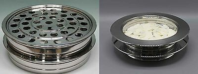 2 Stainless Steel Communion Trays  and 2 Bread Trays (brand new)