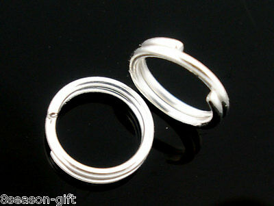 300 PCs Silver Plated Double Loops Open Jump Rings 10mm