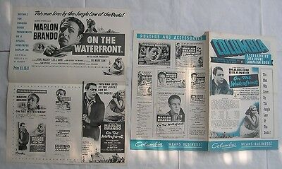 MARLON BRANDO/ON THE WATERFRONT/ pressbook