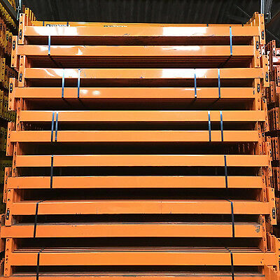 Dexion Warehouse Pallet Racking 8 bays 4m H x 900mm D 2.7m W x 2 Levels x 2 T