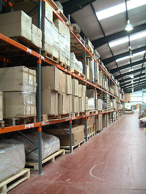 Dexion Warehouse Pallet Racking 7 bays 4m H x 900mm D 2.7m W x 2 Levels x 2 T
