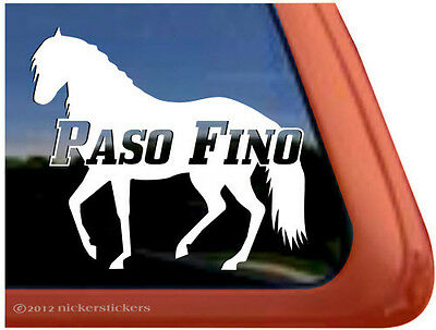 PASO FINO ~ High Quality Vinyl Horse Trailer Window Decal Sticker