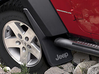 Jeep Wrangler JK 2007-2016 Mopar Splash Guards Mud Flaps OEM FRONT SET 82210233