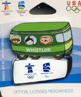 Vancouver Olympics 2010 Mascots On The Bus Pin