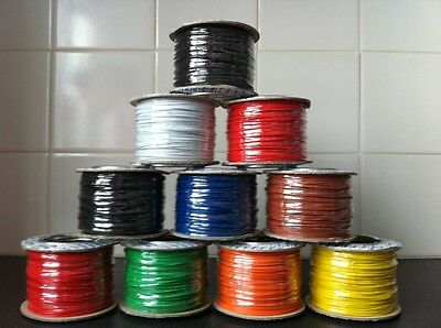 10 Metres Model Railway Wire - 1.4 Amp - Big Range Of Colours