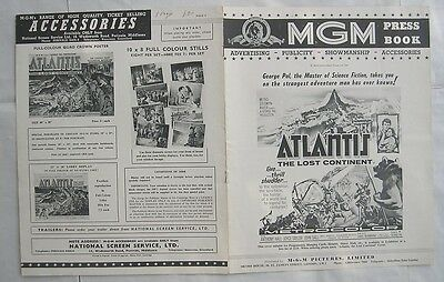 SCI FI/ATLANTIS THE LOST CONTINENT/pressbook
