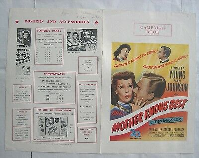 LORETTA YOUNG/MOTHER KNOWS BEST/ pressbook
