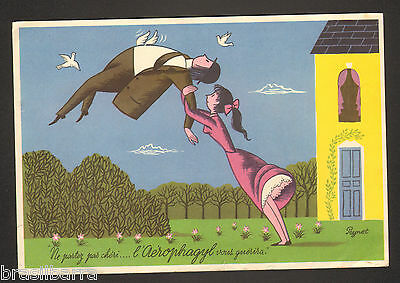 PUBLICITE PHARMACEUTIQUE AEROPHAGYL illustrée par PEYNET 1953