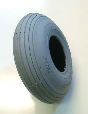 1 Pair of 260x85 3.00-4 Slightly Marked Grey Rib Mobility Scooter Tyres 300x4