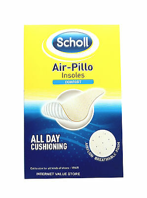 Scholl Air Pillo Comfort Insoles. All Day Cushioning, Washable. Good Value