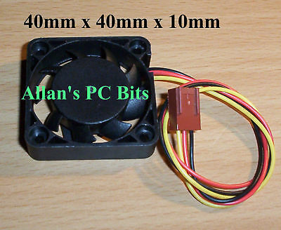 Case & Chipset Fan 40 x 40 x 10mm (4 x 4 x 1cm) NEW - CLEARANCE ITEM