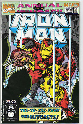 Marvel Comics IRON MAN 1991 #12 Annual 64 pages Outcasts B&B VF