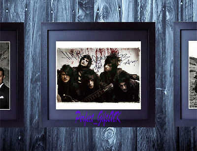 Black Veil Brides Bvb Andy Sixx Signed Autographed Framed 10X8 Repro Photo Print