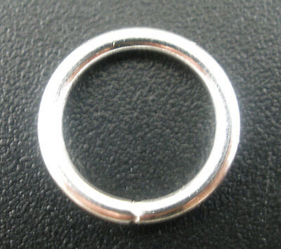 100Pcs Silver Plated Open Split Rings  12x1.5mm Wholesale
