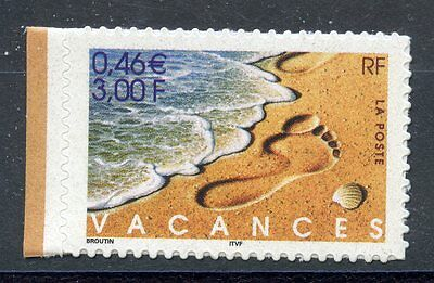 Stamp / Timbre France Neuf N° 3400 ** Bonnes Vacances / Issus De Carnet Adhesif
