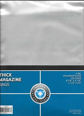 10 MAGAZINE SIZE COLLECTOR BAGS and 10 BACKING BOARDS FREE SHIPPING
