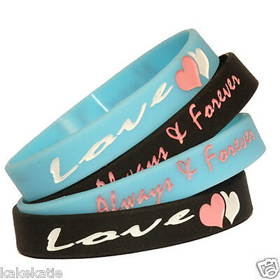 Love wristband bracelets for his or her, boyfriend girlfriend present gift