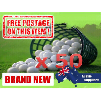 50 x BRAND NEW GOLF BALLS + 50 FREE TEES  NEW PRACTICE BALL CLEARANCE SALE