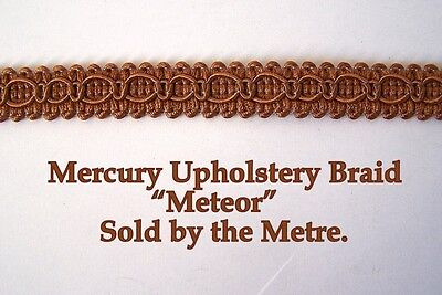 "Light Blue Upholstery Braid /""Mercury Sky/"" 15mm wide sold by the Metre"