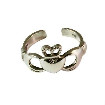 Sterling Silver Toe Ring Claddagh Design - BOXED