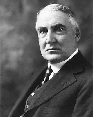 29th US President WARREN HARDING Glossy 8x10 Photo Political Portrait Poster