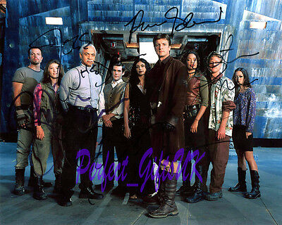 Firefly Castx5 Signed Autographed 10X8 Pp Photo Print Fillion Torres Glau Whedon