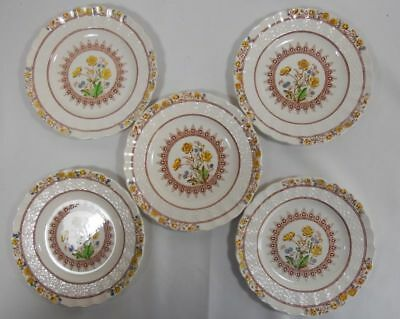 Spode Buttercup Set of 5 Bread and Butter Plates