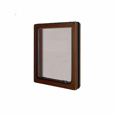 Dog Mate Medium Pet Door Flap Brown Suitable For Cats & Dogs Security Panel 215B