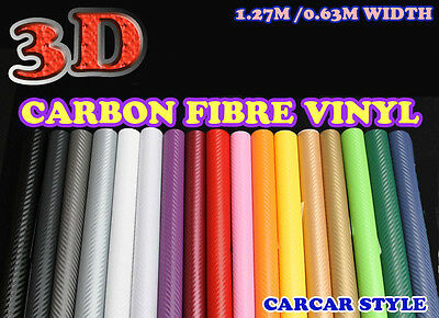 【1500mm X  300mm】ALL COLOUR Carbon Fibre Vinyl Sticker Sheet Wallpaper Car Van