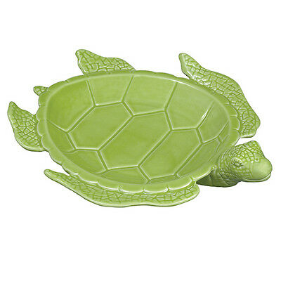 "Andrea by Sadek ~ LIME GREEN ~ 10"" SEA TURTLE SERVING PLATE ~ ~ SOAP DISH"